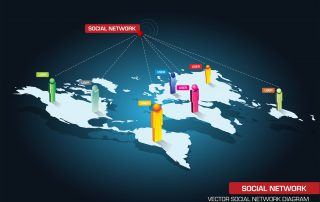 social networks connect the world
