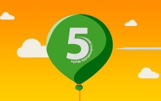 green balloon in the sky