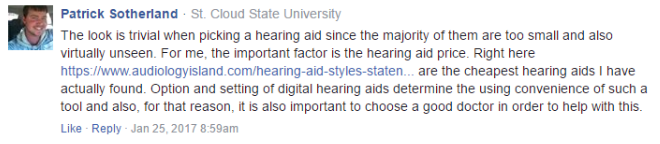 link from facebook audiology