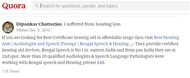 link from quora audiology
