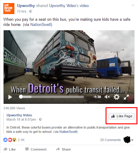 Facebook Page Like Ads