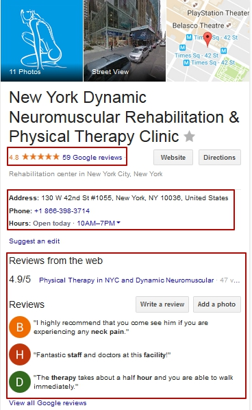 local companies featured snippet