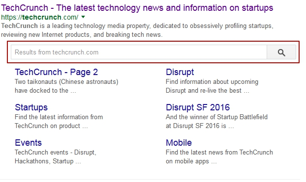 search featured snippet