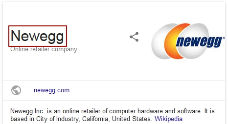 website name featured snippet