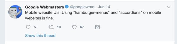 Hamburger menus