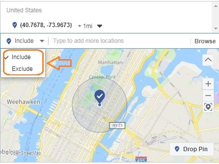 Exclude ZIP-code in Facebook