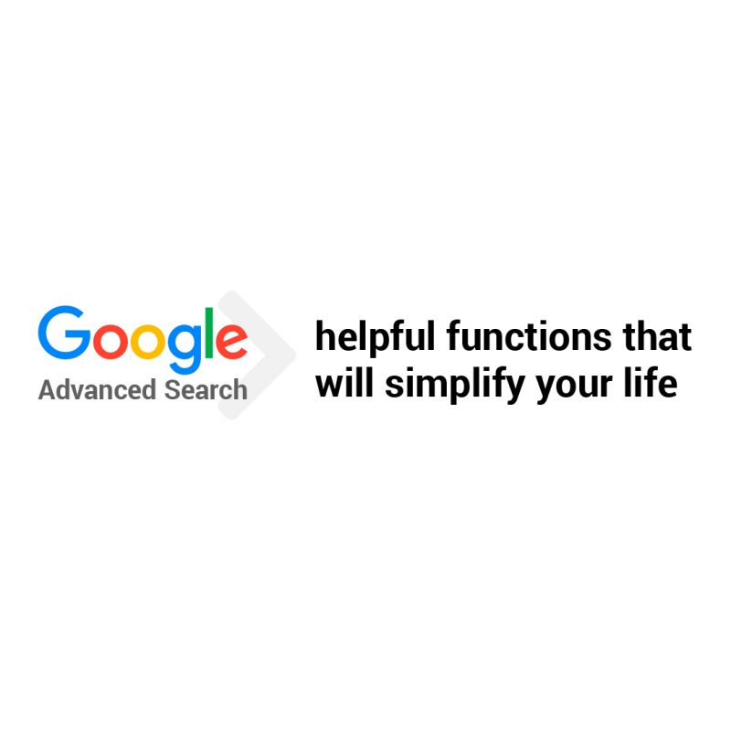 Google Advanced Search cool functions