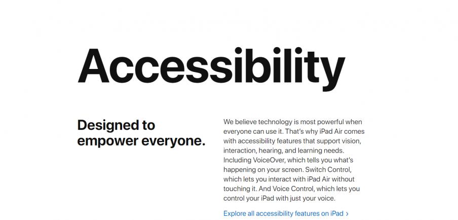 Apple product description example