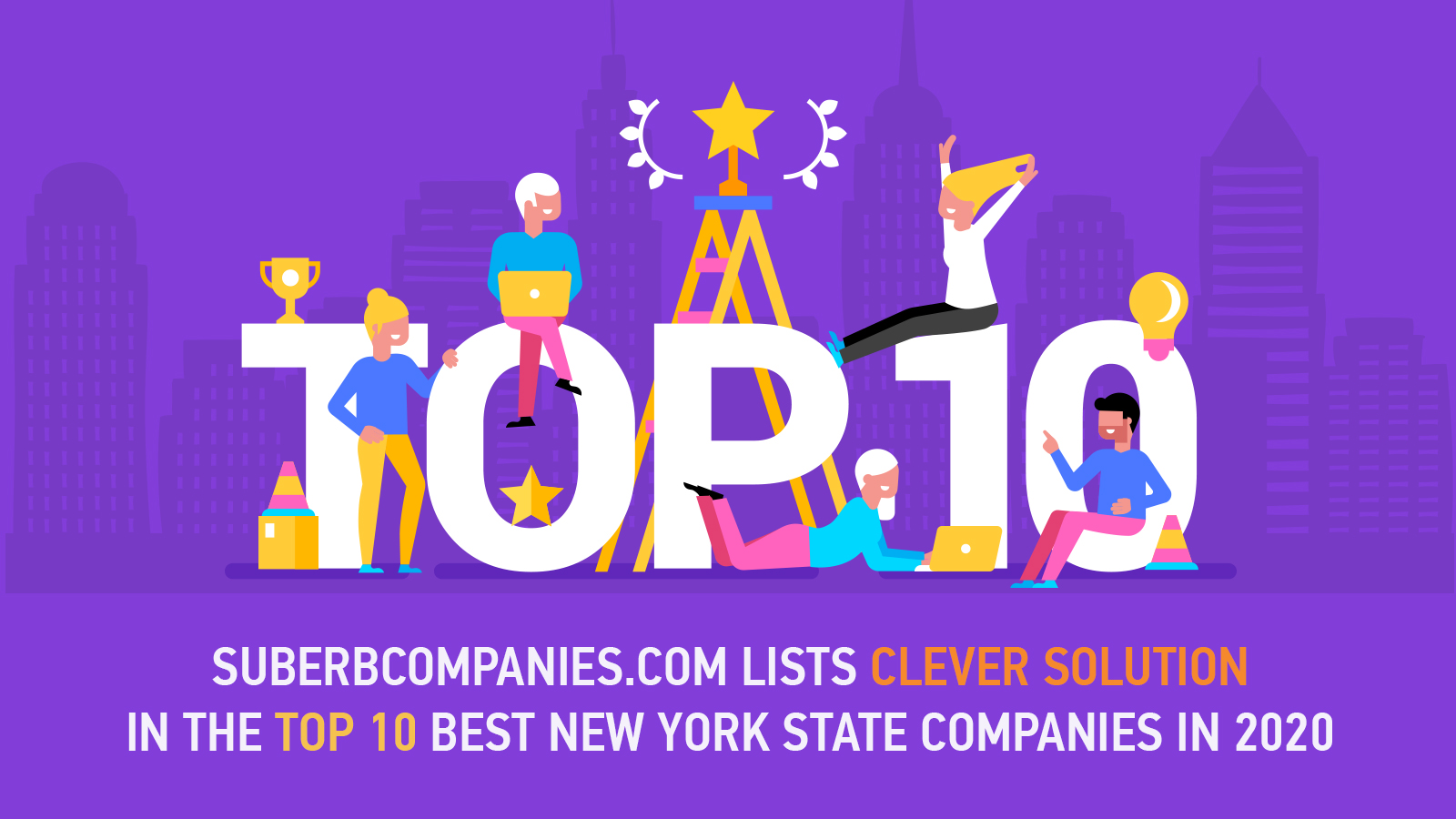 Superbcompanies.com lists Clever Solution among the top 10 New York State companies in 2020