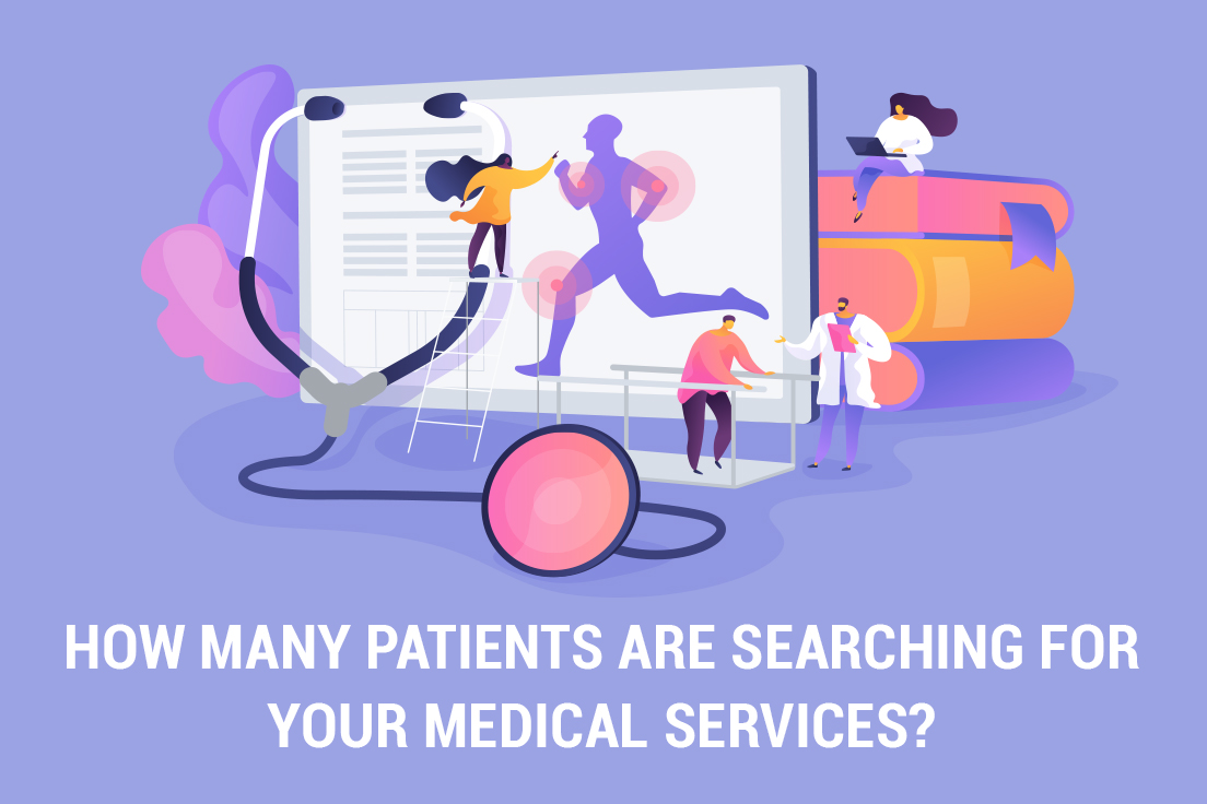 How many patients are searching online for your medical services?
