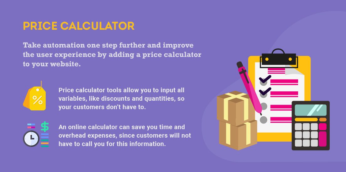 price calculator for your website