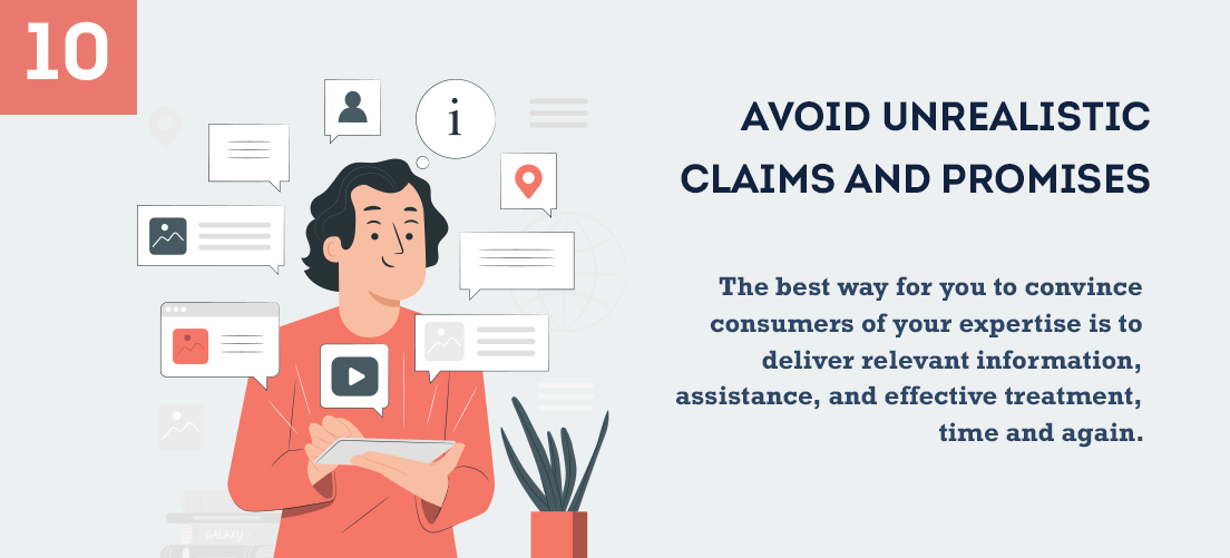 Avoid Unrealistic Claims and Promises